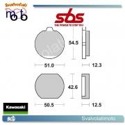 4 PASTIGLIE FRENO ANTERIORI SBS 510 HF KAWASAKI Z 1000 GL 80 >