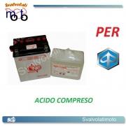 BATTERIA CB14L-A2/SM ACIDO PREDOSATO A CORREDO ONE PER PIAGGIO X9 500 01-