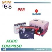 BATTERIA CBTX4L-BS ACIDO PREDOSATO A CORREDO ONE SUZUKI TS200R, RM 200 91-92