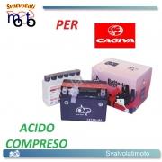 BATTERIA CBTX4L-BS ACIDO PREDOSATO A CORREDO ONE CAGIVA Cucciolo, Mito 50 98