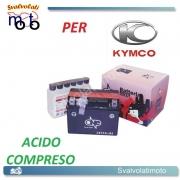 BATTERIA CBTX4L-BS ACIDO PREDOSATO A CORREDO ONE KYMCO CX/CX Super 50 00-