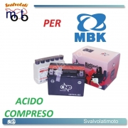 BATTERIA CBTX4L-BS ACIDO PREDOSATO A CORREDO ONE MBK Booster Rocket 50 96-97