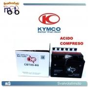 BATTERIA CBTX9-BS ACIDO PREDOSATO A CORREDO ONE PER KYMCO Dink LX 150 97