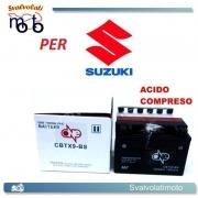 BATTERIA CBTX9-BS ACIDO PREDOSATO A CORREDO ONE PER SUZUKI GSX-R400R, RF 400 91-95