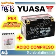 BATTERIA YUASA TTZ10S 12V 8,6AH PER KTM SMC 690 2008 > 2010 CON ACIDO