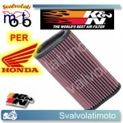 FILTRO ARIA K&N HONDA CBF 600 S 2008 > 2011