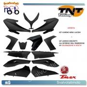 KIT 13 PEZZI CARENE NERO LUCIDO TNT TUNING YAMAHA T-MAX 500 2008 > 2011