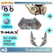KIT STOP+FRECCE+FARO TRASPARENTE OMOLOGATO 12V T-MAX 2008 2011