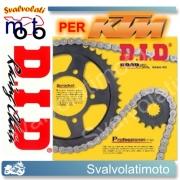 KIT TRASMISSIONE DID CATENA CORONA PIGNONE KTM EXC 520 4T 2001 > 2002