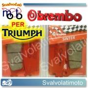 PASTIGLIE BREMBO ANTERIORI TRIUMPH THUNDERBIRD 900 DAL 2003 IN POI