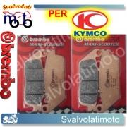 PASTIGLIE FRENO ANTERIORI BREMBO SINTERIZZATE KYMCO XCITING 500 i EVO ABS DAL 2011