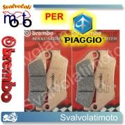 PASTIGLIE FRENO ANTERIORI BREMBO SINTERIZZATE PIAGGIO EVOLUTION XS 500 ABS DAL 2004