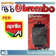 PASTIGLIE FRENO ANTERIORI BREMBO CARBON CERAMIC APRILIA SCARABEO 50 4-STROKE DAL 2004