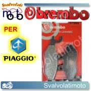 PASTIGLIE FRENO ANTERIORI BREMBO CARBON CERAMIC PIAGGIO ZIP 100 DAL 2007