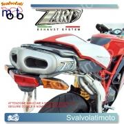SCARICO ZARD COD. Z D 013 S M R INOX-TITANIO 2>1>2 RACING PERDucati 999MONOPOSTO M.Y. 03-04