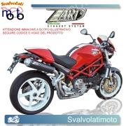 SCARICO ZARD COD. ZD 024 LSR-1 2 silenziatori carbonio racing alti dx-sx perDucati Monster S2R 100