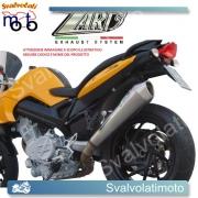SCARICO ZARD COD. ZBMW 083 SSR-C  INOX-LUCIDATO A SPECCHIO RACING  PER BMW F 800 S/ST