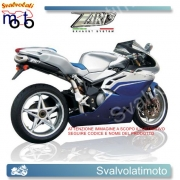 SCARICO ZARD COD. ZMW 060 AKR-B Kit completo 4>2>1>2 PENTA inox-alluminio NERO racing PERMV-AGUSTA