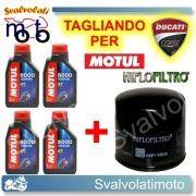 TAGLIANDO FILTRO OLIO + 4LT MOTUL 5000 10W40 DUCATI 1198 R 2009