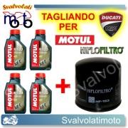 TAGLIANDO FILTRO OLIO + 4LT MOTUL 5100 10W40 DUCATI 1198 R 2009