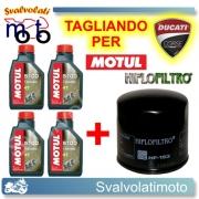 TAGLIANDO FILTRO OLIO + 4LT MOTUL 5100 15W50 DUCATI 750 SS 1991 > 2002