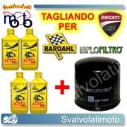TAGLIANDO FILTRO OLIO + 4LT BARDAHL XTC C60 10W40 DUCATI SPORT 800 2003