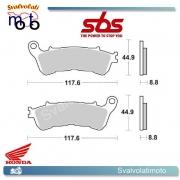 2 PASTIGLIE ANTERIORI SBS 192 MS HONDA SW-T ABS 400 DAL 2009 IN POI