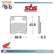 2 PASTIGLIE FRENO POSTERIORI SBS 209 HF HONDA FJS SILVERWING 600 (PARKING BRAKE) DAL 2009 IN POI