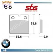 2 PASTIGLIE FRENO POSTERIORI SBS 506 HF BMW  K100 1000 LT 1987