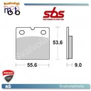 2 PASTIGLIE FRENO POSTERIORI SBS 506 HF DUCATI 650 PANTAH 84 >