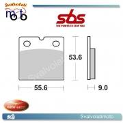 2 PASTIGLIE FRENO POSTERIORI SBS 506 HF MOTO GUZZI  T5 850 N.T. 86 >