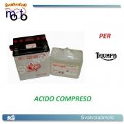 BATTERIA CB14L-A2/SM ACIDO PREDOSATO A CORREDO ONE PER TRIUMPH T509 Speed Triple 885