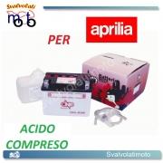 BATTERIA CB4L-B/SM ACIDO PREDOSATO A CORREDO ONE PER APRILIA H2O 50 00-