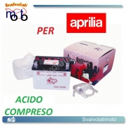 BATTERIA CB4L-B/SM ACIDO PREDOSATO A CORREDO ONE PER APRILIA Red Rose/Classic 50 89-92