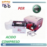 BATTERIA CB4L-B/SM ACIDO PREDOSATO A CORREDO ONE PER BENELLI KBX 80 '94