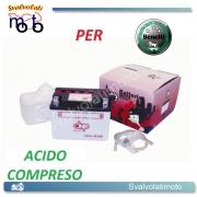 BATTERIA CB4L-B/SM ACIDO PREDOSATO A CORREDO ONE PER BENELLI Scooty LX/DLX 50 '94