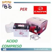 BATTERIA CB4L-B/SM ACIDO PREDOSATO A CORREDO ONE PER CAGIVA K3, W4 50 -98
