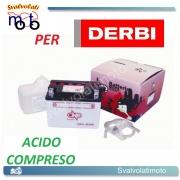 BATTERIA CB4L-B/SM ACIDO PREDOSATO A CORREDO ONE PER DERBY Senda-L, Senda-R 50 94-