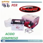 BATTERIA CB4L-B/SM ACIDO PREDOSATO A CORREDO ONE PER MALAGUTI Crosser 50