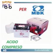 BATTERIA CB4L-B/SM ACIDO PREDOSATO A CORREDO ONE PER MBK Stunt 50 01