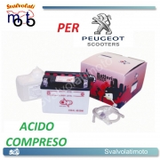 BATTERIA CB4L-B/SM ACIDO PREDOSATO A CORREDO ONE PER PEUGEOT Ciclomotore(E-Starter) 125 01-