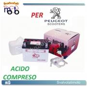 BATTERIA CB4L-B/SM ACIDO PREDOSATO A CORREDO ONE PER PEUGEOT SC80LI (Metropolis) 80