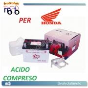BATTERIA CB4L-B/SM ACIDO PREDOSATO A CORREDO ONE PER HONDA NU 50M Urban Exp. Delux 50 82-83