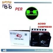 BATTERIA CBTX9-BS ACIDO PREDOSATO A CORREDO ONE PER KAWASAKI ZR750 (Z750S) 750 05-06