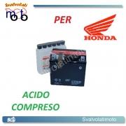 BATTERIA ONE CTZ10S-BS ACIDO PREDOSATO A CORREDO PER HONDA CBR1000RR Fireblade (SC57) 1000 04-07