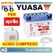 BATTERIA YUASA YB4L-B 12V 4AH PER APRILIA MOIJTO CUSTOM 50 1999 > 2003 CON ACIDO