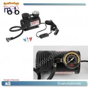COMPRESSORE COMPACT CON MANOMETRO 12V 17BAR 15LT/MINUTO PNEUMATICI E GONFIABILI