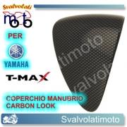 COPERCHIO CENTRALE MANUBRIO CARBON LOOK YAMAHA T-MAX 2008 2011