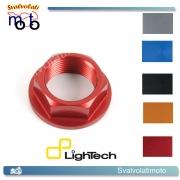 DADO SPECIALE LIGHTECH IN ERGAL 7075 PERNO RUOTA ANTERIORE PER APRILIA SHIVER 750 2007 > 2013