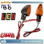 FRECCE LED ARROW ARANCIO CARBON LOOK 2PZ